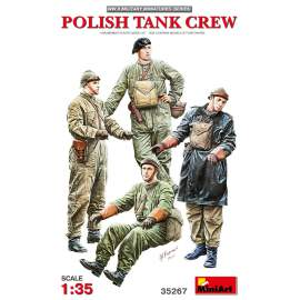 Miniart 1:35 Polish Tank Crew figura makett