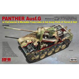 Ryefield model 1:35 Panther Ausf.G with full interior & cut away parts