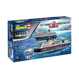 Revell 1:1200 HURTIGRUTEN 125th Anniversary model szett