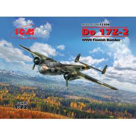 ICM 1:72 Do 17Z-2, WWII Finnish Bomber repülő makett