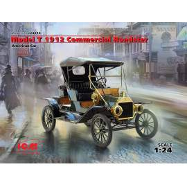 ICM 1:24 Model T 1912 Commercial Roadster, American Car autó makett