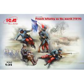 ICM 1:35 French Infantry on the march (1914) (4 figures) figura makett