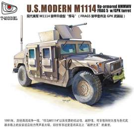 T-Model 1:72 M1114 Up-armored HMMWV FRAG 5 w/ GPK Turret