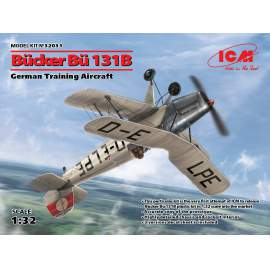 ICM 1:32 Bücker Bü 131B, German Training Aircraft repülő makett