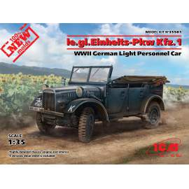 ICM 1:35 Ie.gl.PKW Kfz.1, WWII German Light Personnel Car