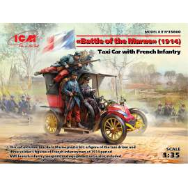 ICM 1:35 Battle of the Marne (1914),Taxi car with French Infantry