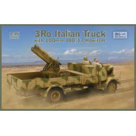 IBG 1:35 3Ro Italian Truck with 100/17 100mm Howitzer