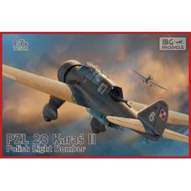 IBG 1:72 PZL.23 Karaś II - Polish Light Bomber repülő makett