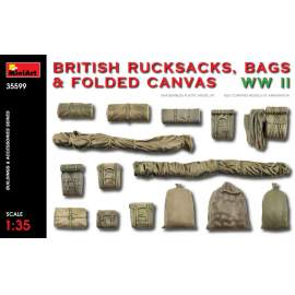 Miniart 1:35 British Rucksacks, Bags & Folded Canvas WW2