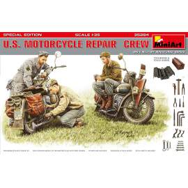 Miniart 1:35 U.S. Motorcycle Repair  Crew. Special Edition