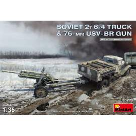 Miniart 1:35 Soviet 2 t 6x4 Truck with 76 mm USV-BR Gun
