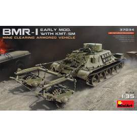 Miniart 1:35 BMR-1 Early Mod. with KMT-5M harcjármű makett