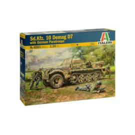 Italeri 1:35 Sd.Kfz. 10 DEMAG D7 With German Paratroops - 4 Figures