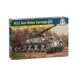 Italeri 1:72 M12 Gun Motor Carriage harcjármű makett