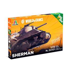 Italeri 1:72 SHERMAN - World Of Tanks - Easy To Build harcjármű makett