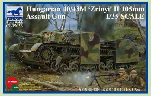 Bronco 1:35 Magyar 40:43M Zrinyi II 105mm Assault Gun cb35036
