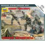 Zvezda 1:72 German Paratroops 6136 figura makett