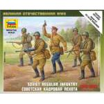 Zvezda 1:72 Soviet Regular Infantry 1941-42 6179 figura makett