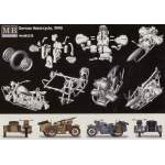 Masterbox 1:35 German motorcycle and sidecar MB3528