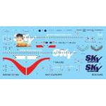 Boa decals 1:144 - Boeing 737-300 Sky Europe matrica szett