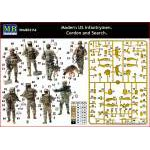 Masterbox 1:35 Modern US infantrymen Cordon and Search