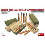 Miniart 1:35 Soviet 100mm Shells with ammunition boxes