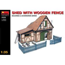 Miniart 1:35 - Shed with Wooden Fence