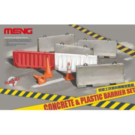 Meng Model 1:35 Concrete & plastic barrier set