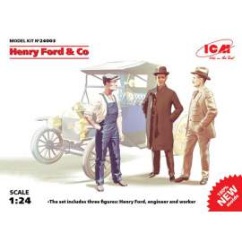 ICM 1:24 Henry Ford & Co (3 figures)