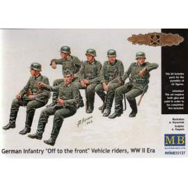 Masterbox 1:35 German Infantry ´Off to the Front´ Vehicle Riders