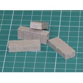 Eureka 1:35 Wooden Ammo Boxes for 12.8 cm Pak 44/Kw.K. (Maus)