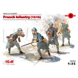 ICM 1:35 - French Infantry (1916) (4 figures)