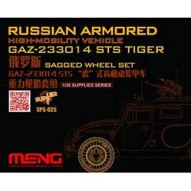 Meng Model 1:35 Russian Armored High-mobility Veh. GAZ Tiger Sagged Wheels