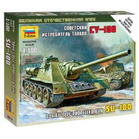 Zvezda 1:100 SU-100 - Soviet Self-Propelled Gun