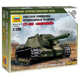 Zvezda 1:100 Self-propelled Gun SU-152
