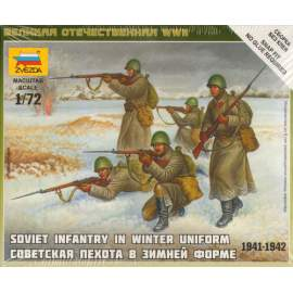 Zvezda 1:72 Soviet Infantry (Winter Uniform)