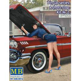 Masterbox 1:24 - Pin-up series. A short stop. Kit No. 2
