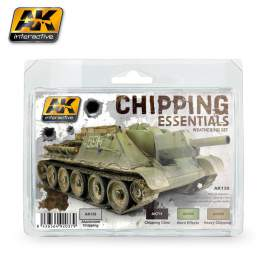 AK-Interactive - Chipping essentials weathering set