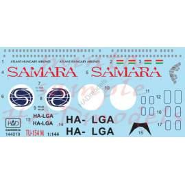 HADModels - 1:144 Tu-154 M Samara Airlines matrica