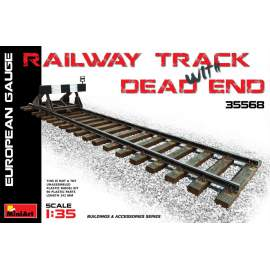 Miniart 1:35 Railway Track & Dead End (European Gauge)