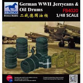 Bronco 1:48 WWII German Jerry Can & Fuel Drum