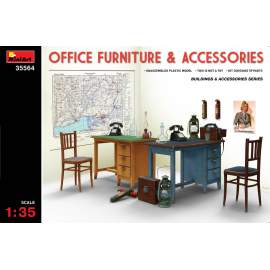 Miniart 1:35 Office Furniture & Accessories