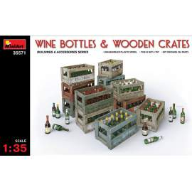 Miniart 1:35 Wine Bottles & Wooden Crates