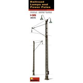 Miniart 1:35 Railroad Power Poles & Lamps