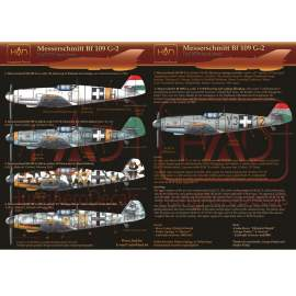 HADModels - 1:72 Messerschmitt Bf 109 G-2 decal sheet