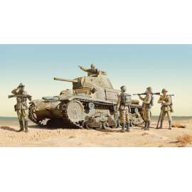 Italeri 1:35 CARRO ARMATO M13/40 with BERSAGLIERI - 6 figures