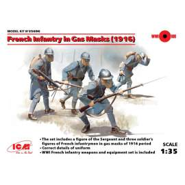 ICM 1:35 French Infantry in Gas Masks (1918) (4 figures)