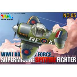Tiger Model - Cute Plane WWII Royal Air Force Supermarine Spitfire