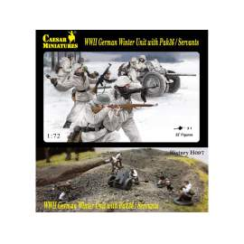 Caesar Miniatures 1:72 WWII German Winter Unit with Pak-36 and crew