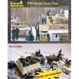 Caesar Miniatures 1:72 WWII German Panzer Crews (Sets 2)